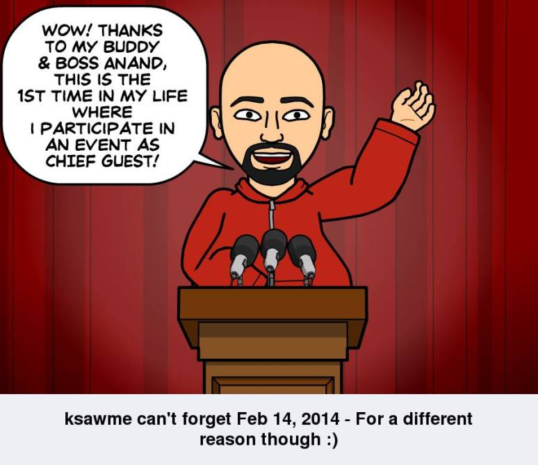 Sam K can't forget February 14th - For a different reason though