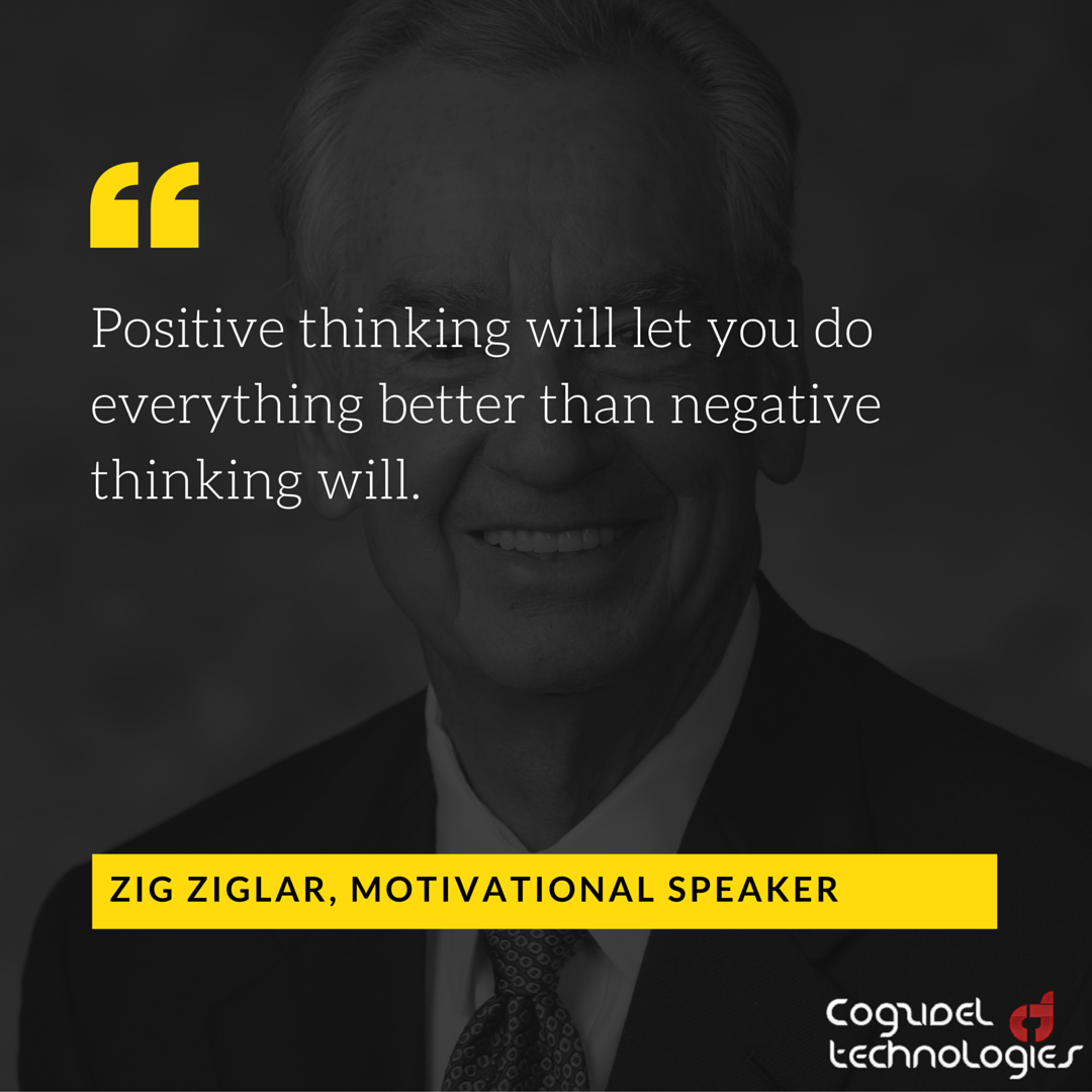 Quotes Zig Ziglar Zig Ziglar On Positivity  Startup Quote  Cogzidel Technologies